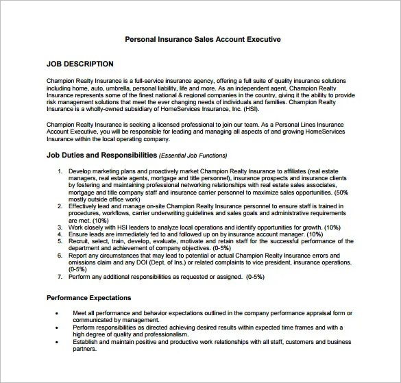 11 Account Executive Job Description Templates – Free