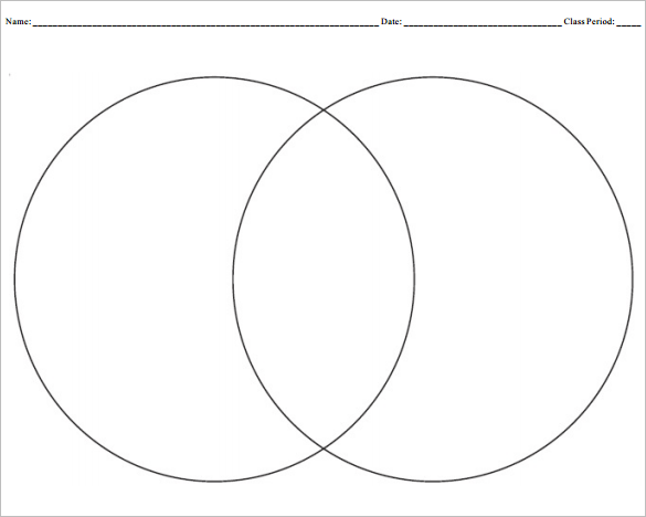 9+ Blank Venn Diagram Templates - PDF, DOC