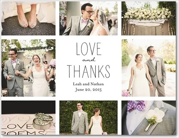 Wedding Thank You Note – 6+ Free Word, Excel, PDF Format Download ...