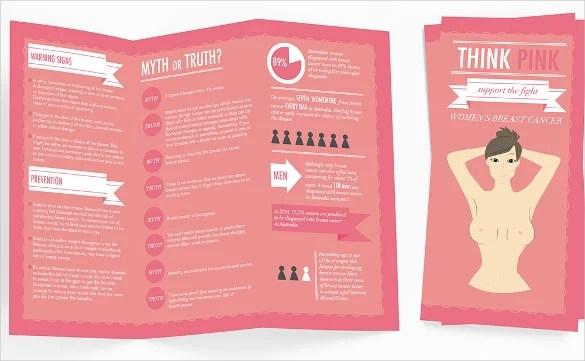 14 Breast Cancer Brochure Templates – Free PSD AI Illustrator