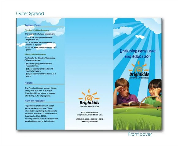 15 Daycare Brochure Templates Free PSD EPS