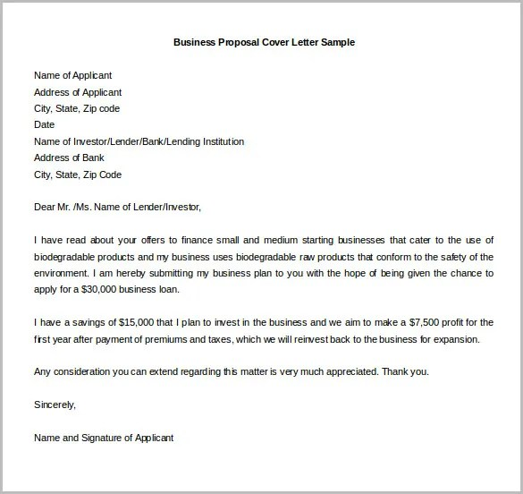 Business Plan Cover Letter Sle Letters With Template