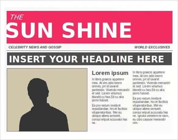 editable newspaper template word