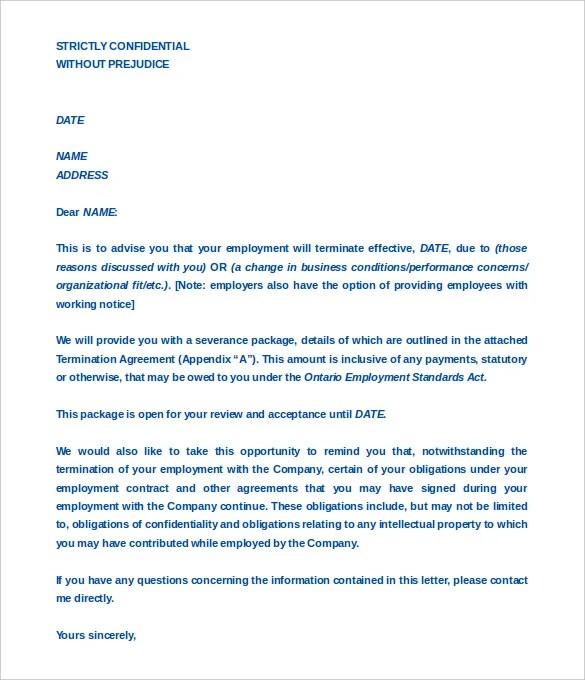 Employment Termination Agreement Template | brandforesight co