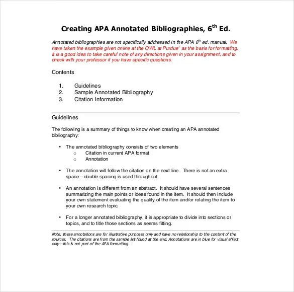 Annotated bibliography owl sample