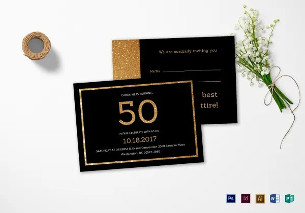 45 50th birthday invitation templates