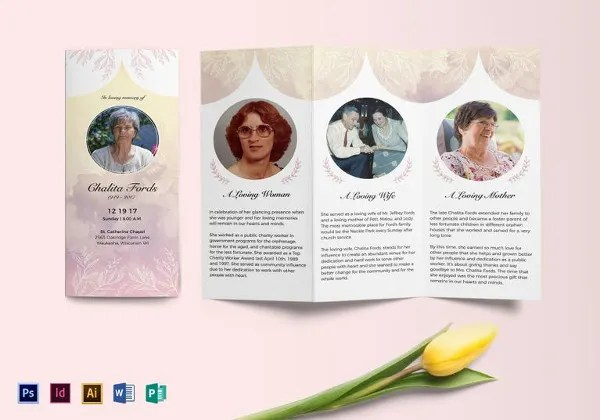 25 Funeral Program Templates PDF PSD Free Amp Premium Templates