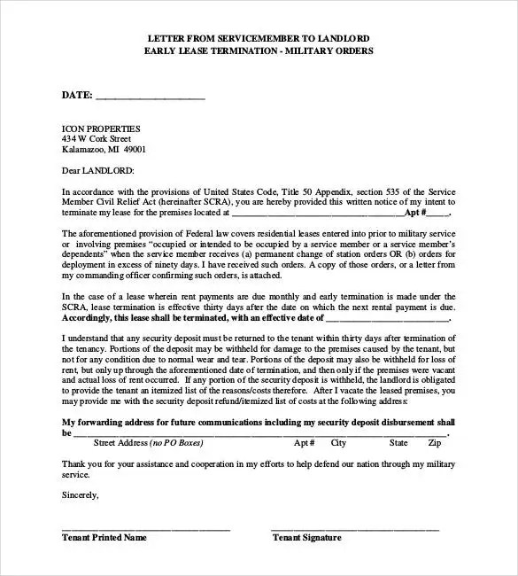 23 Lease Termination Letter Templates  PDF DOC  Free