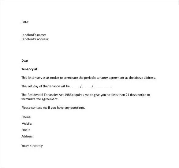 letter to end lease - Cypru.hamsaa.co