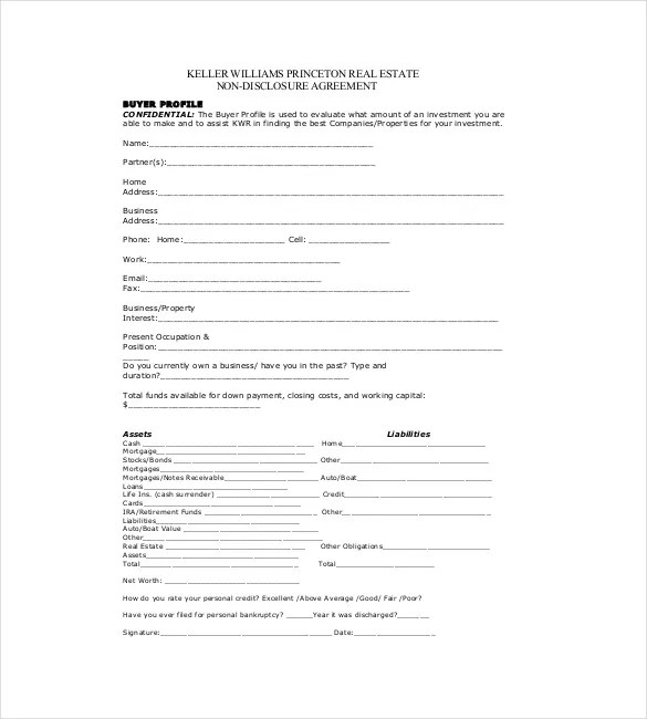 Non Disclosure Agreement Invention Template Create
