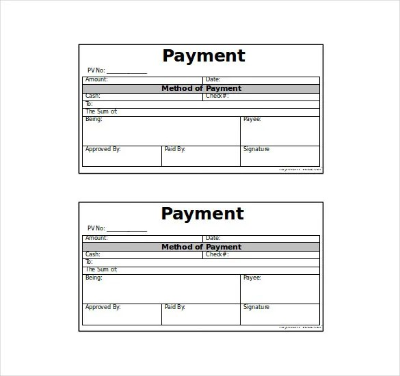 Payment Coupon Template  Free Download