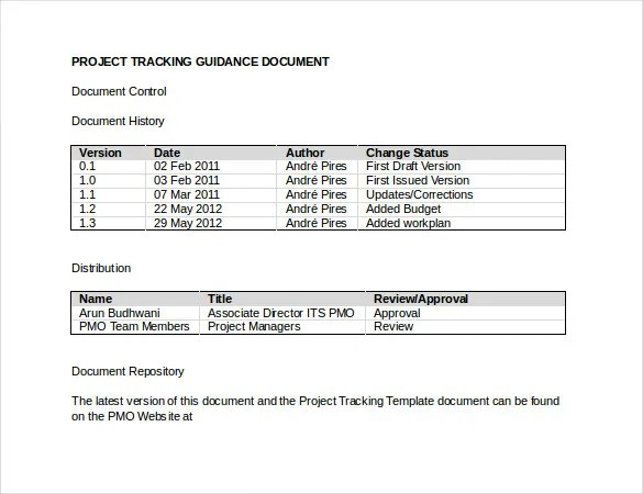 Tracking Template – 17+ Free Word, Excel, PDF Documents Download ...