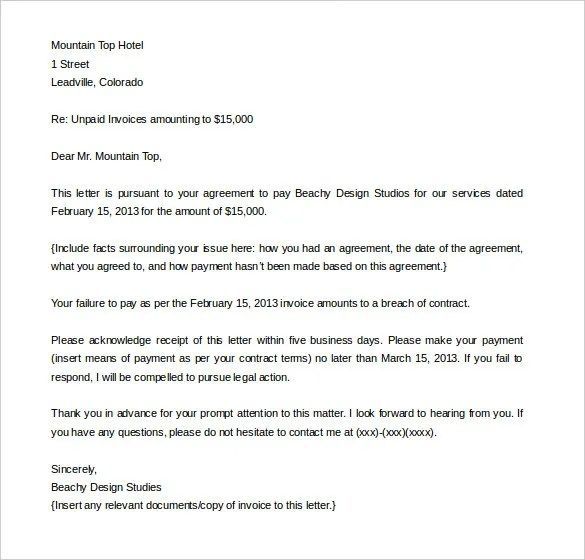 Demand Letter Templates 11 Free Word