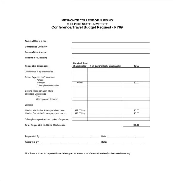 9+ Vacation Budget Template – Free Sample, Example, Format Download ...