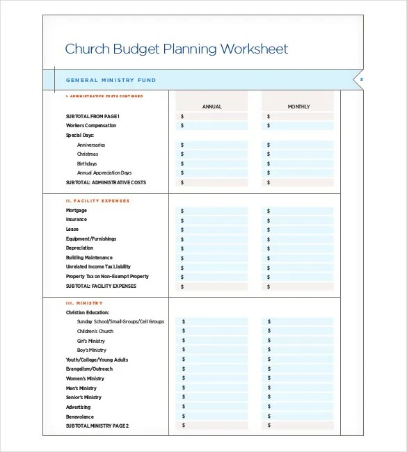 small church budget template - April.onthemarch.co