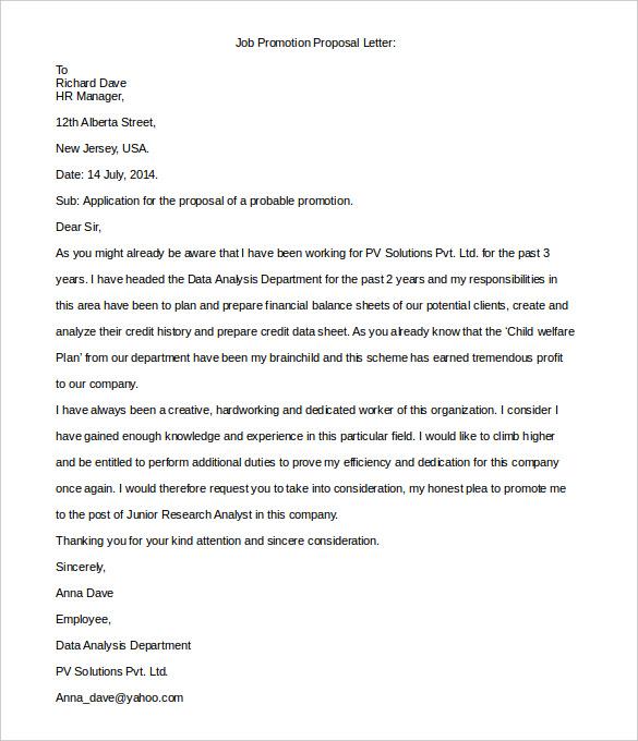 33 Proposal Letter Templates DOC PDF Free & Premium