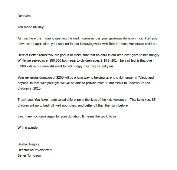 Fundraising Letter Template – 7 Free Word PDF Documents