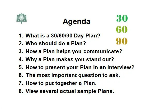 32 30 60 90 Day Plan Templates  Word Pages PDF Google