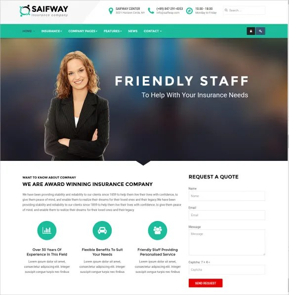 Built with html5 and css 3, this insurance responsive template is completely free to download. 26 Insurance Website Themes Templates Free Premium Templates