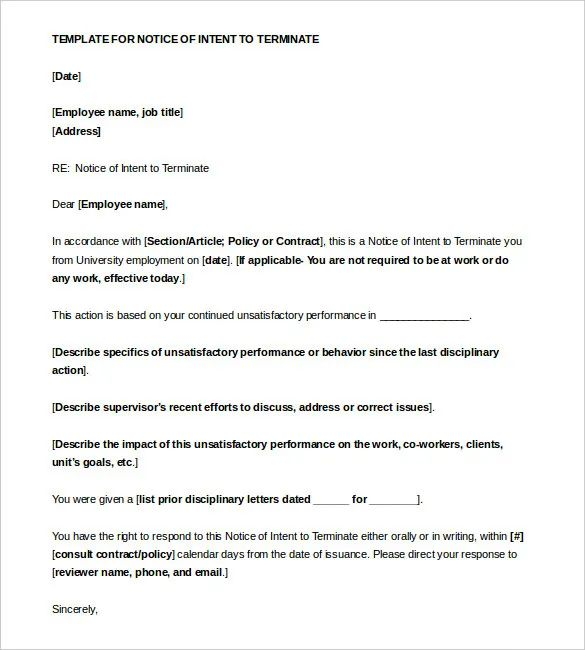 Employment Letter Of Intent - Resume Examples | Resume Template
