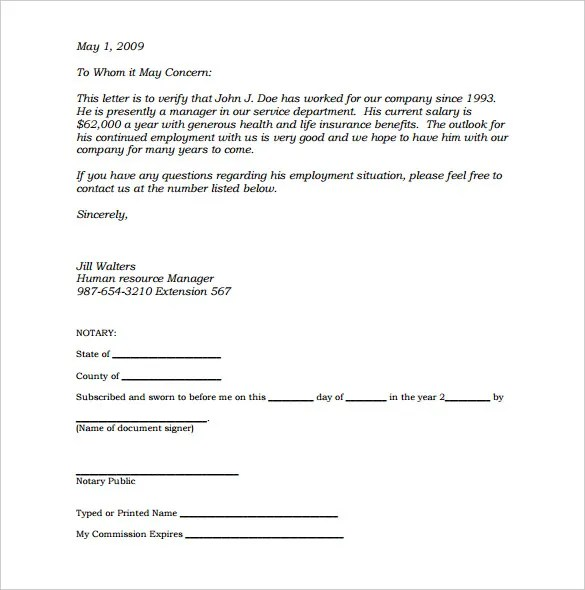 Nature Letter Template