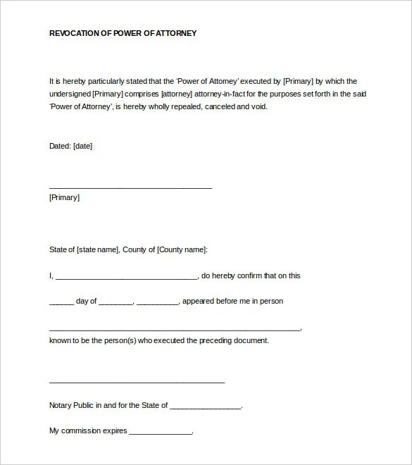 32 Notarized Letter Templates Pdf