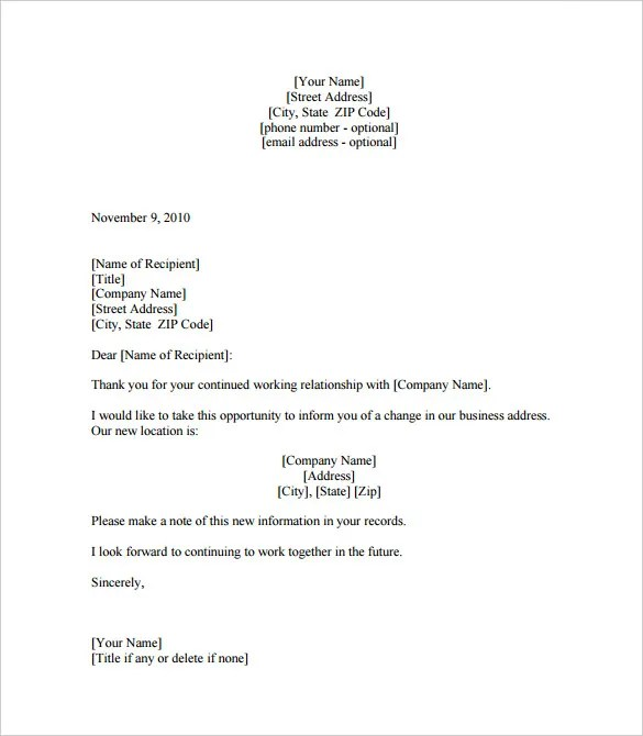 Change of address letter of proof targergolden dragon change spiritdancerdesigns Image collections