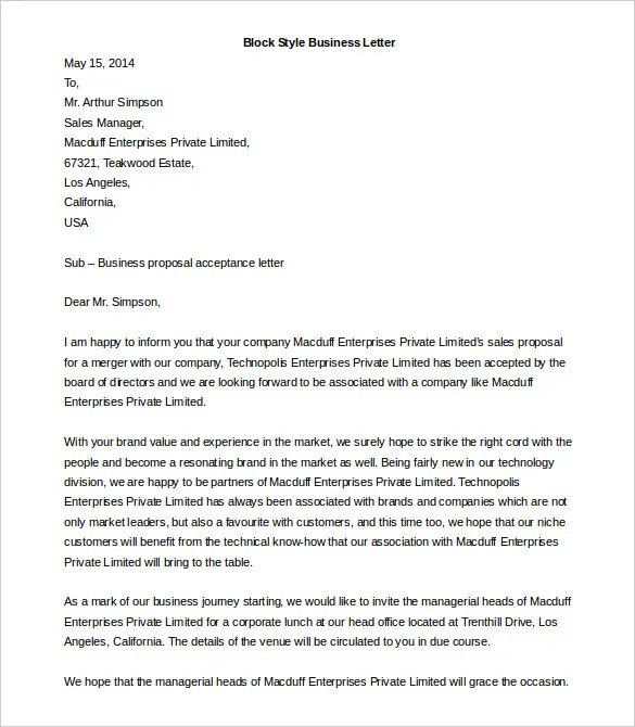 Word Business Letter Template Kabap