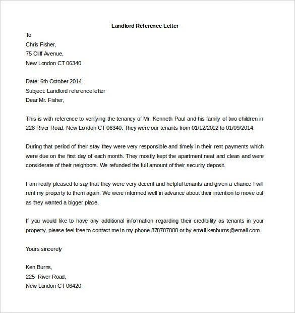 Recommendation Letter Templates Free