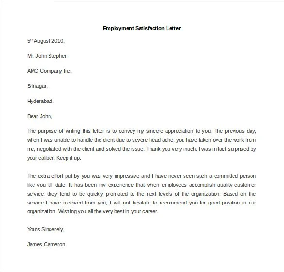 11 Free Employment Letter Template  DOC PDF  Free