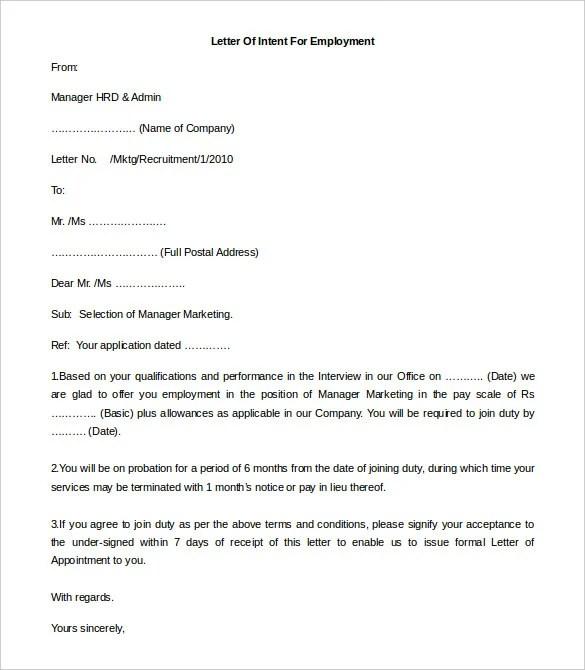 11 Free Employment Letter Template  DOC PDF  Free  Premium Templates