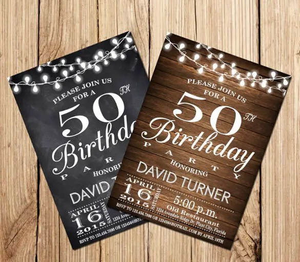 14 50th Birthday Invitations Free PSD AI Vector EPS