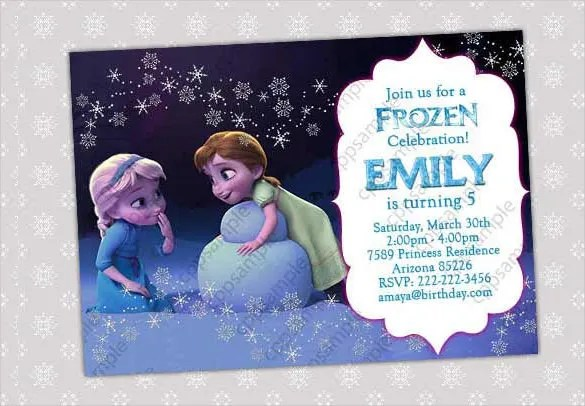 Great Frozen Invitation Template Images Gallery Idea