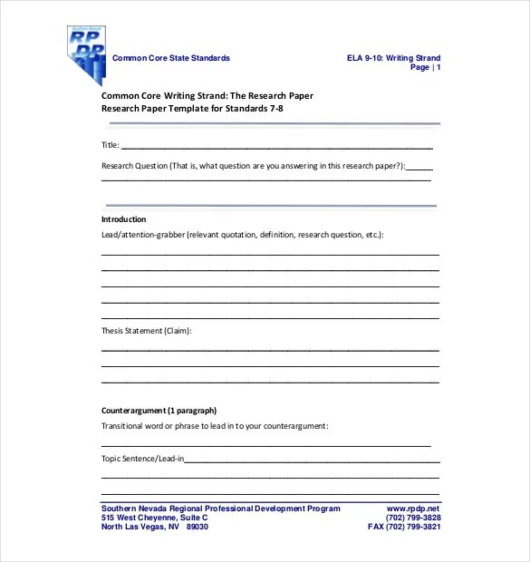 8 Research Paper Outline Templates – Free Sample Example Format