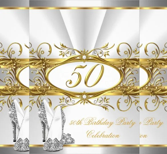 Invitation Card For 50th Birthday