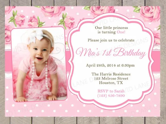 Free Templates For 1st Birthday Party Invitations Wedding – 1st Birthday Invitations Free Templates