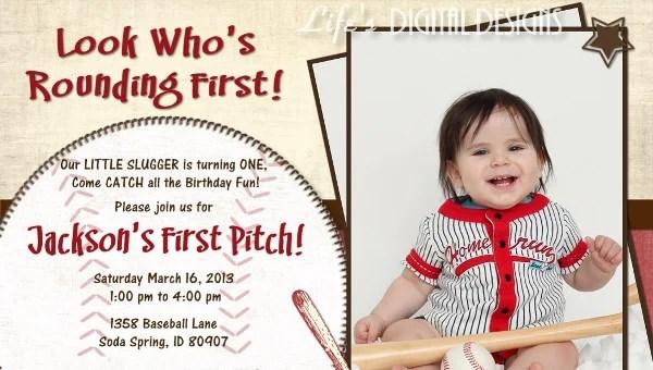 17 baseball birthday invitations psd