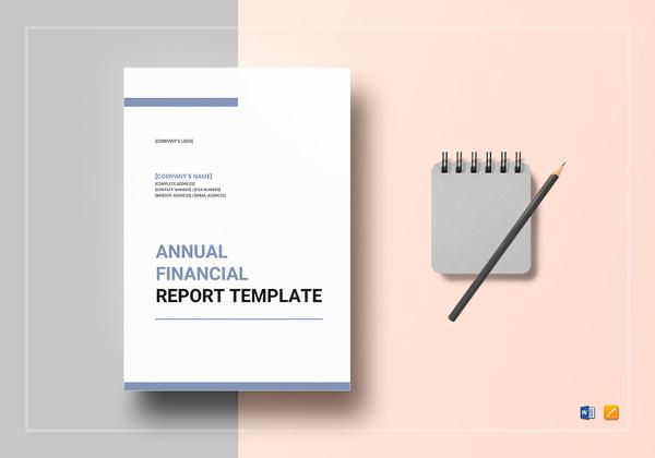 Treasurer Report Annual Template Church