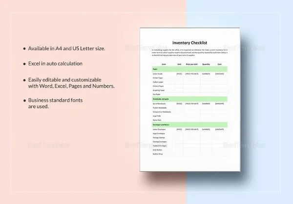 inventory check in check out template