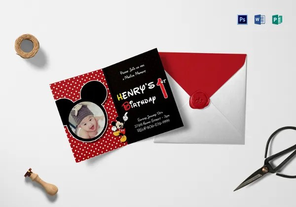 30 mickey mouse invitation template