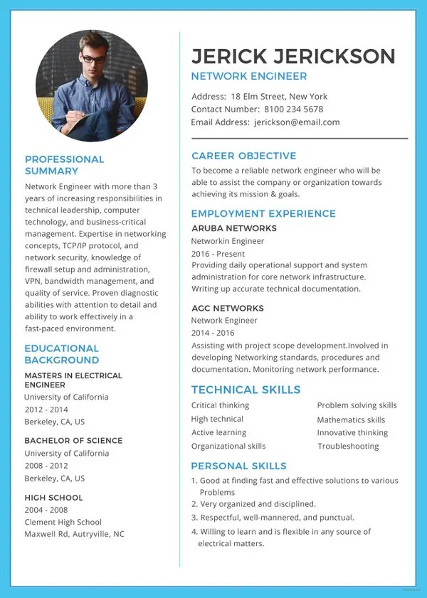 Resume Template 42 Free Word Excel PDF PSD Format