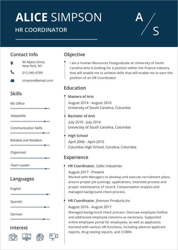 resume template word free download executive resume