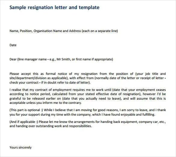 How to Write a Professional Resignation Letter  Free  Premium Templates