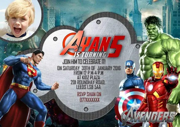 21 superhero birthday invitations