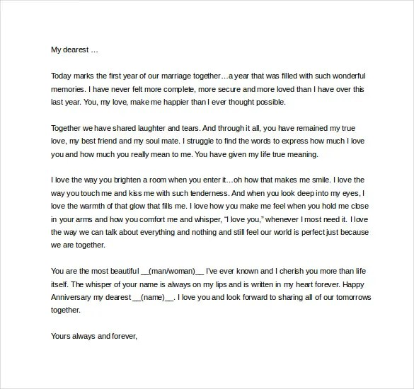 Beautiful Love Letters For My Wife | Docoments Ojazlink