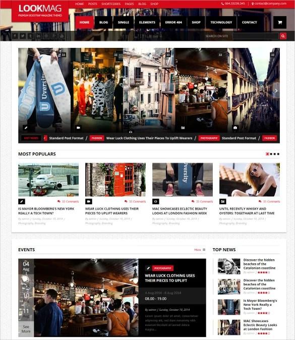 18 Magazine Bootstrap Themes & Templates Free & Premium