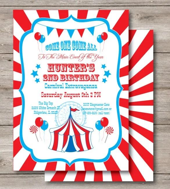 27 carnival birthday invitations