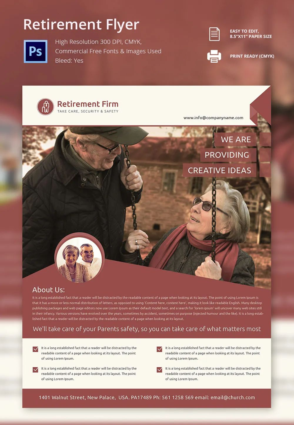 retirement flyer free template