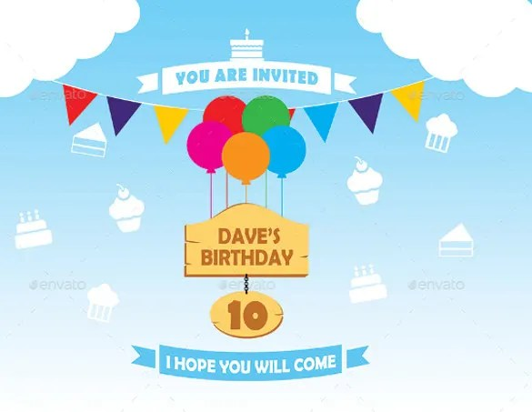 12 Post Card Birthday Invitations