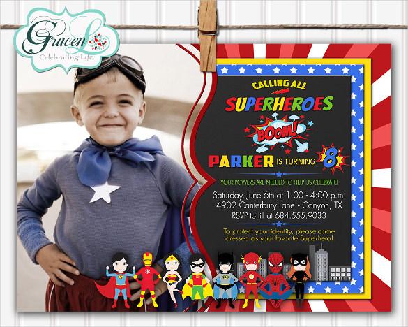 30 Superhero Birthday Invitation Templates PSD AI Free Amp Premium Templates
